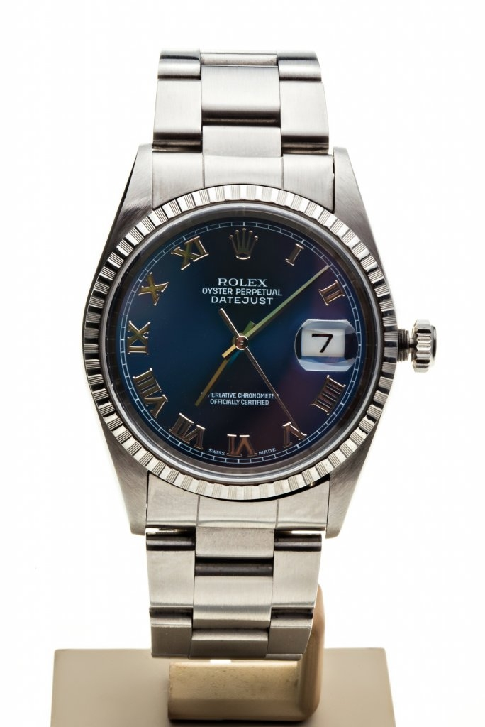 ROLEX DATEJUST 36MM BLUE DIAL OYSTER 7TO.7 LUXURY WATCXHES REF. 16220 1