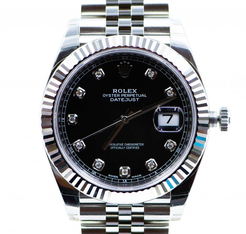 ROLEX DATEJUST 41 MM REF. 126334BLACK DIAMOND JUBILEE 7TO7.RO LUXURY WATCHES 1