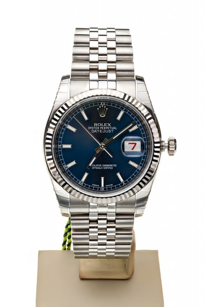 Rolex datejust 36 mm ref 1116234 blue index for Rolex date just 36