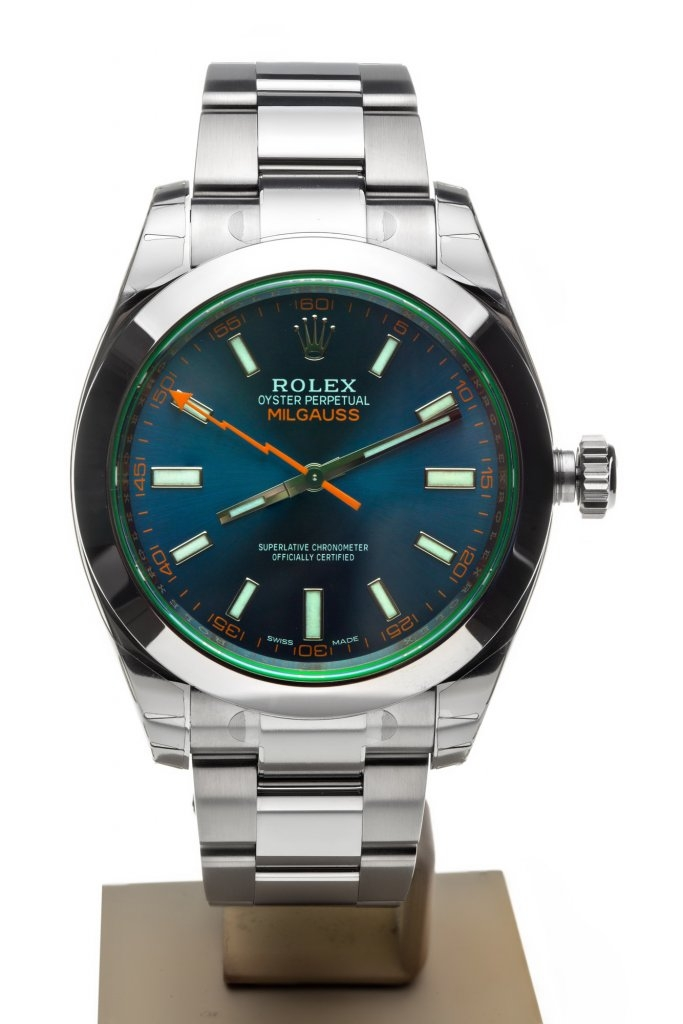 ROLEX MILGAUSS REF. 116400 GV BLUE 7TO7.RO LUXURY WATCHES 1